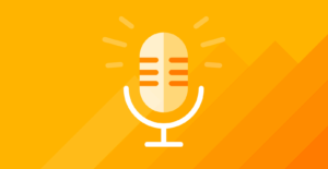Article image for employee feedback 101 -- a microphone icon on a yellow background