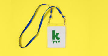 K for Kazoo badge on yellow background