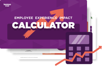 Card reading Employee Experience Impact Calculator with a purple calculator icon