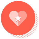 Thumbnail image for appreciation: A heart on a red background